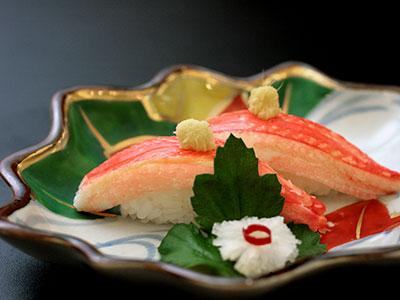兵衛向陽閣-旬の味2015 蟹寿し.jpg