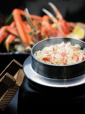 旬の味『蟹の釜めし』