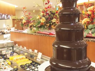 Buffet style dinner-chocolate fountain