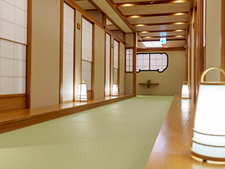 Hallway at Ajisai restaurant