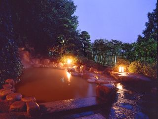Ichi no Yu, outdoor hot spring bath, night view