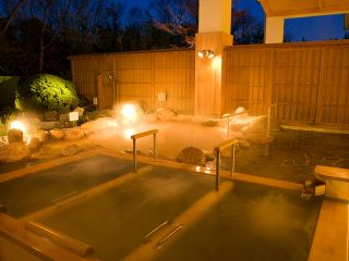San no yu, men bath, outdoor, night view, hot tub