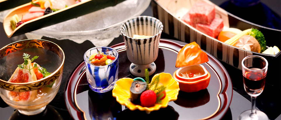 Kaiseki-Japanese multi-course menu with seasonal ingredients